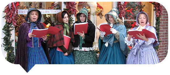 Holiday in the Arts District carolers blurb