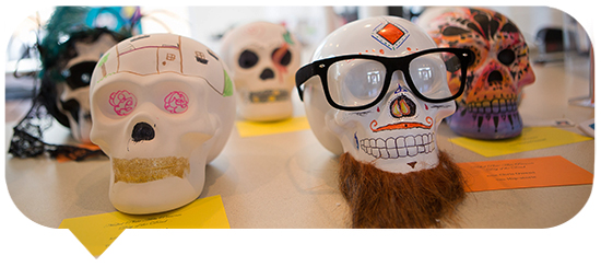 Day of the Dead skulls Blurb