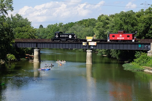 White River Kayak w Train
