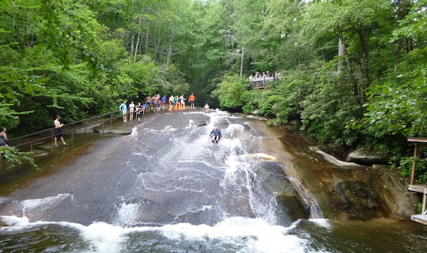 Sliding Rock in Pisgah National Forest, NC