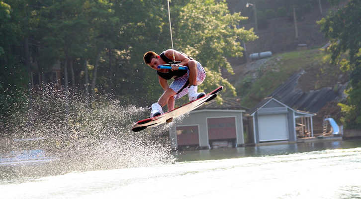 Wakerboarder on Lake Lure