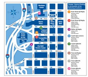 Theater District Parking Map