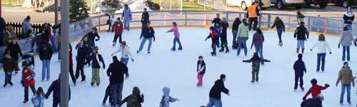Ice skating at Long Island park