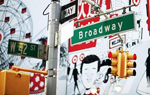 Broadway Stree Sign - Photo by Joe Buglewicz