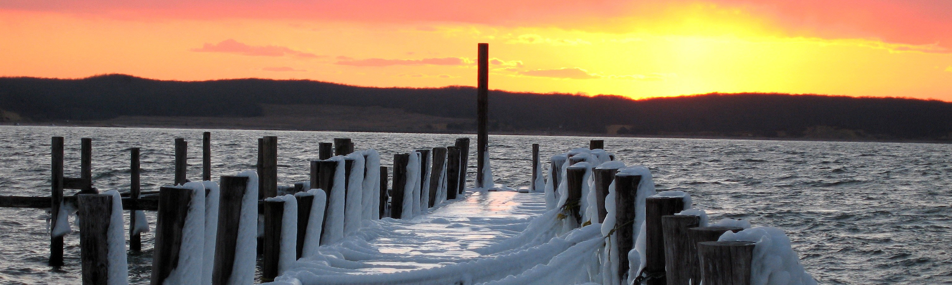 Pier on Long Island in the winter