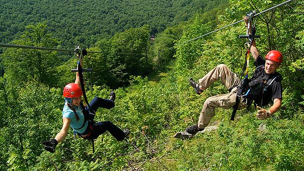 Hunter Zipline at Hunter Mountain