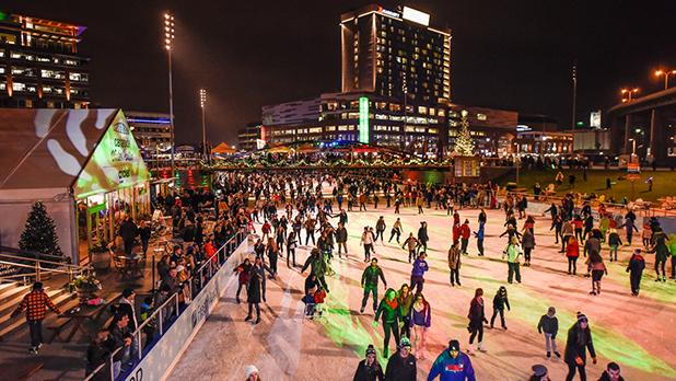 Ice at Canalside - Photo Courtesy of Visit Buffalo Niagara by Joe Cascio