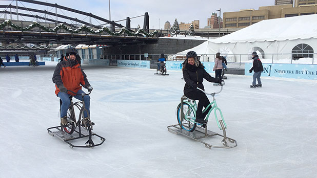 Ice Bikes at Canalside
