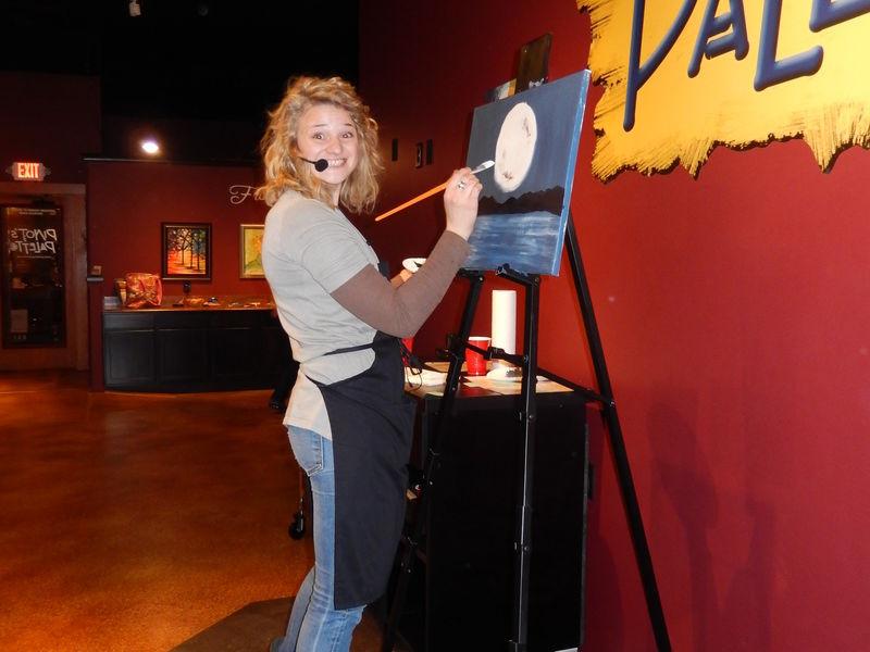 Women Painting in Pinot's Palette Wichita