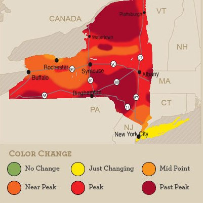 Beautiful Peak Colors This Weekend In Most Regions Of New York State - 13 colonies map new york city