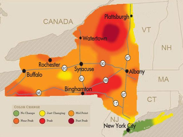 Bright Beautiful Fall Colors Spreading Across New York State