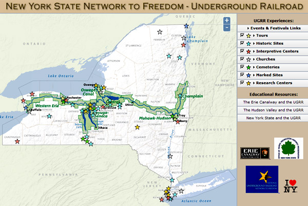 New map and app explore the underground railroad in ny state nysugrrmap600g sciox Images