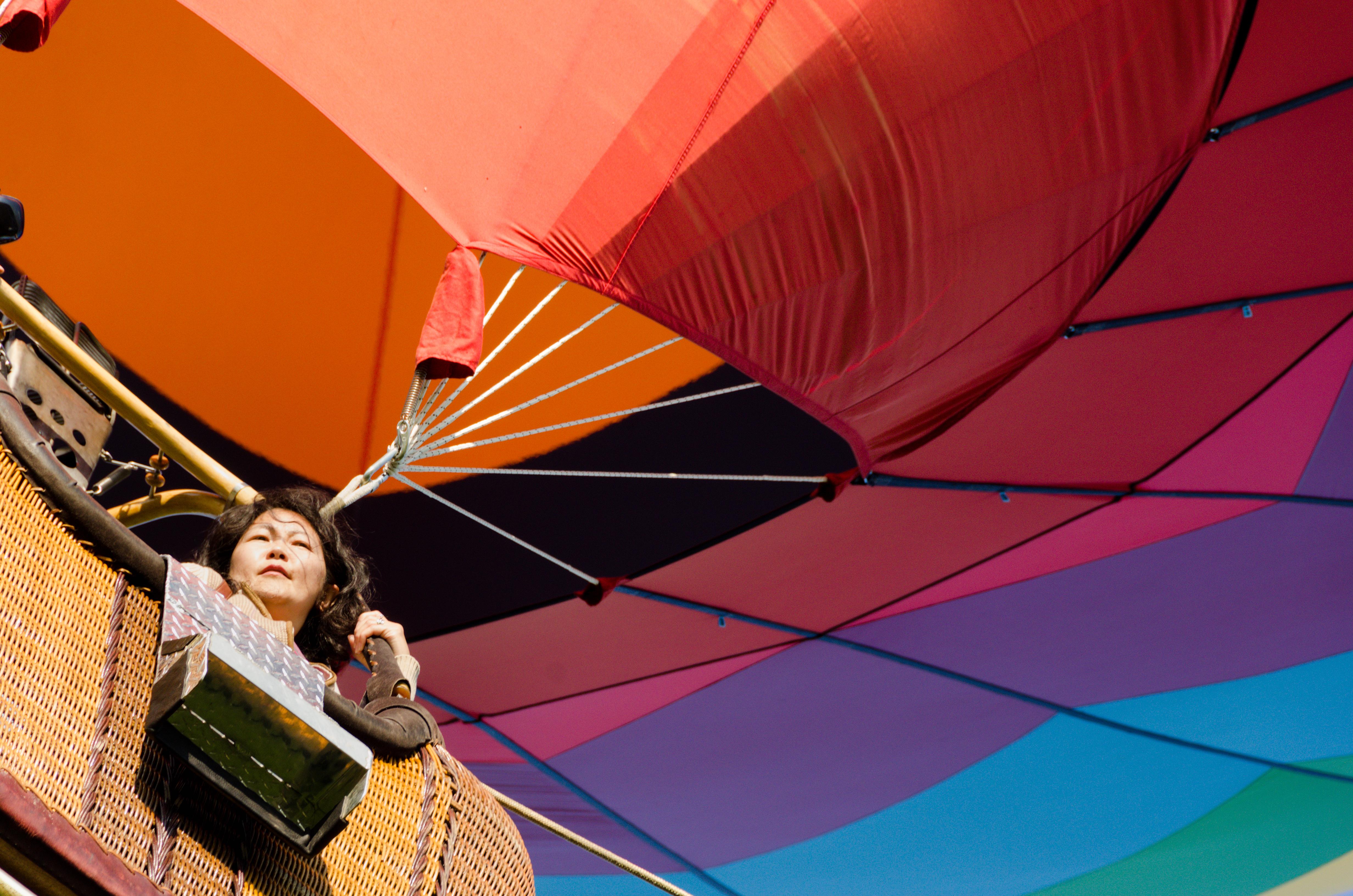 On a tethered balloon ride | Preakness Celebration Balloon Festival | VisitHowardCounty.com