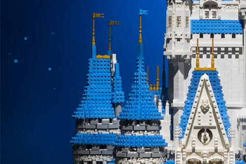 Closeup of Cinderella's Castle in Brick By Brick, Museum of Science and Industry Chicago