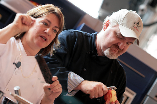 Gale Gand, Art Smith at Chicago Gourmet  | Photo courtesy of Tammy Green