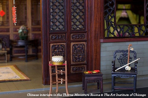 Chinese interiors in the Thorne Miniature Rooms