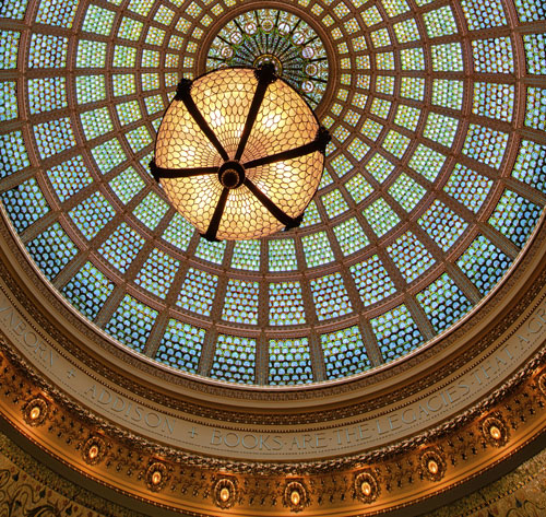 Chicago Cultural Center ceiling