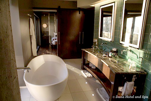 Guest bathroom at Dana Hotel and Spa Chicago