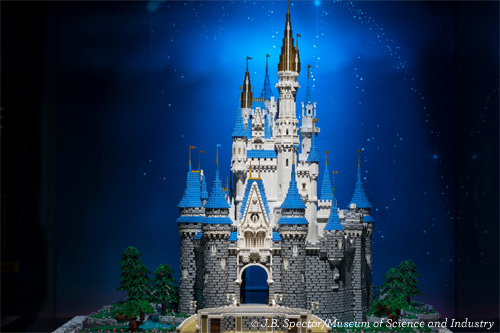 Cinderella's Castle in Brick By Brick at Museum of Science and Industry Chicago
