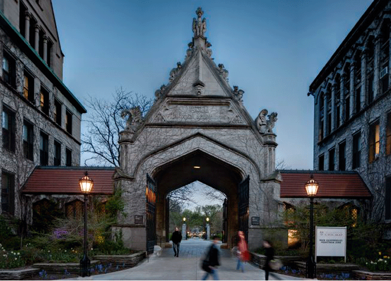 Cobb Gate at University of Chicago Campus