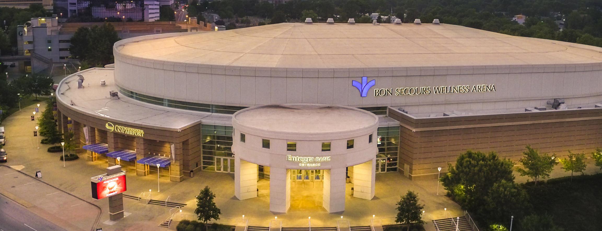 Bon Secours Wellness Arena Exterior 1600x615 52dc5649 727e 44f8 9afc 63f43d8738cf