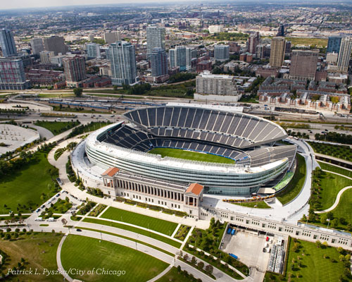 Soldier Field - Aerial - Blog