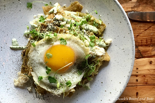 Chilaquiles at Dusek's Board and Beer