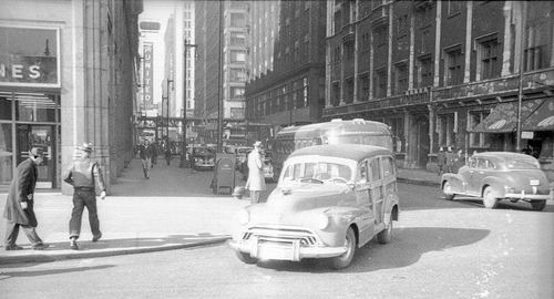 Michigan and Adams in 1950