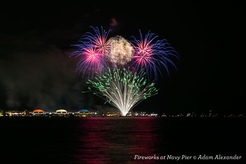 New Year's Eve Fireworks at Navy Pier