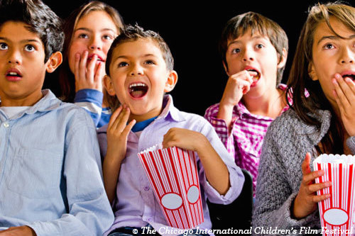 Kids at movie