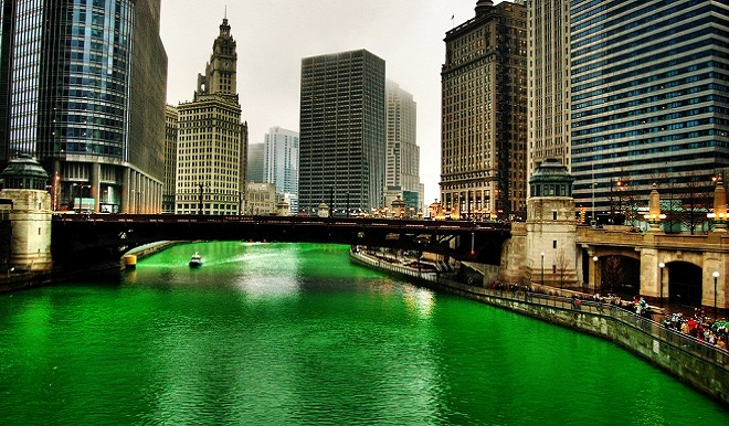 St. Patrick's Day - Green Chicago River Hero