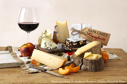 Pastoral Artisan Cheese, Bread & Wine Spread