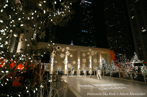 Sky Rink at Peninsula Hotel Chicago