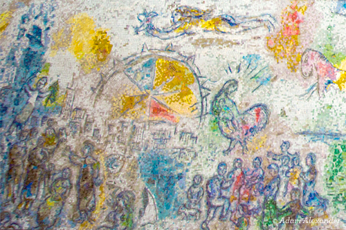 Detail of The Four Seasons by Marc Chagall