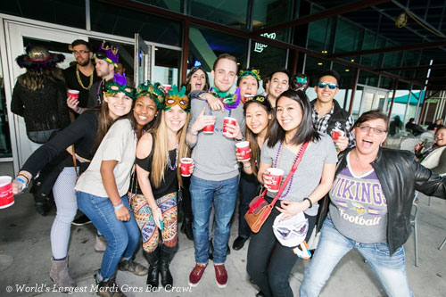 World's Largest Mardi Gras Bar Crawl