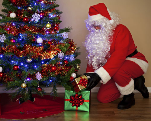 Santa with Presents - Blog