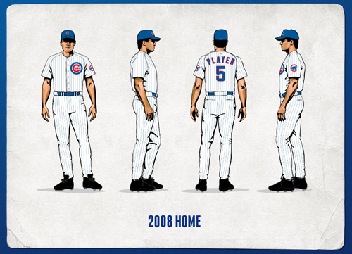 Cubs 2008 home uniforms