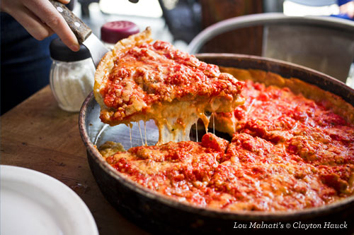 Lou Malnati's Chicago deep dish pizza