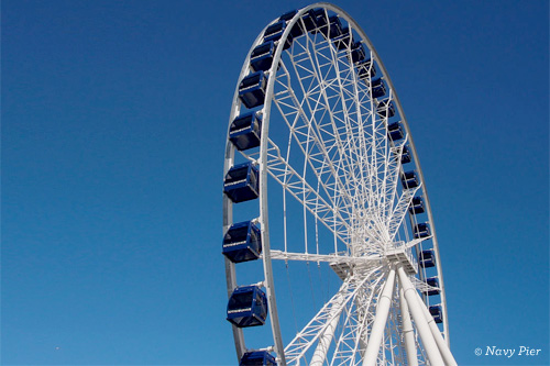 New Ferris Wheel at Navy Pier Chicago