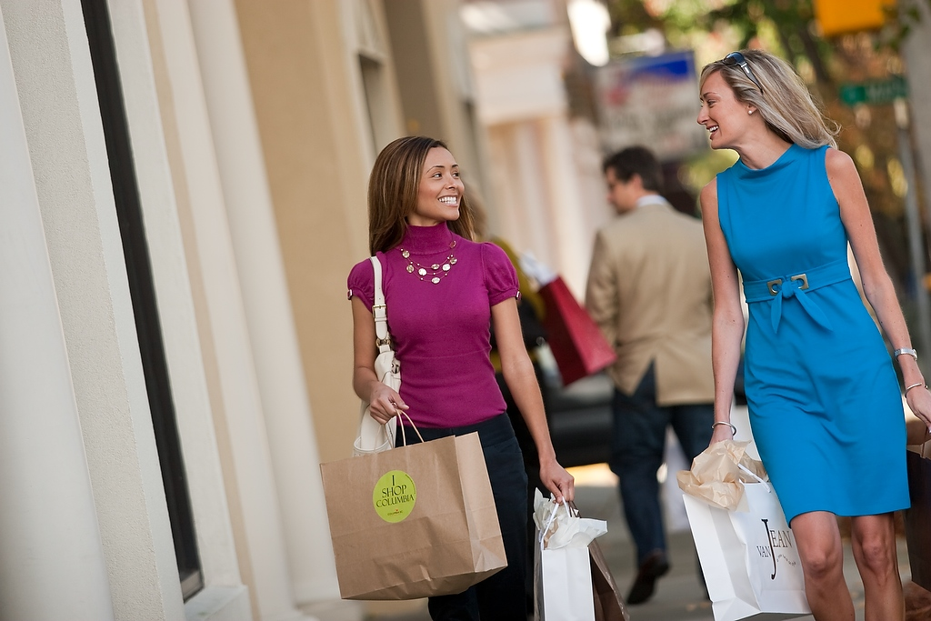 Shopping on Devine Street in Columbia, SC