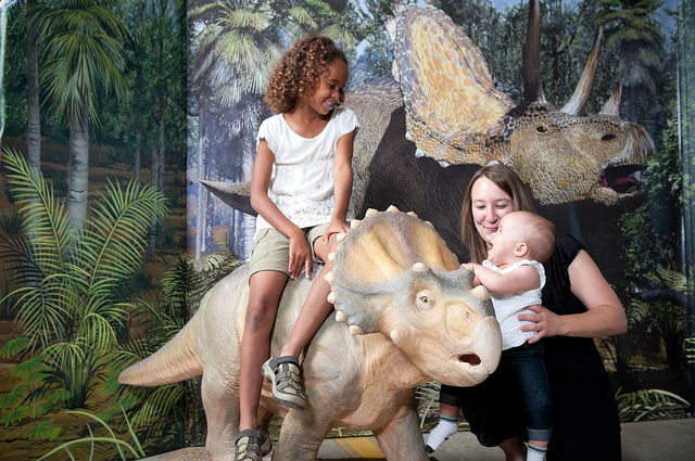 Dinosaurs: Land of Fire and Ice at EdVenture Children's Museum lets kids touch, feel and explore the world of dinosaurs!