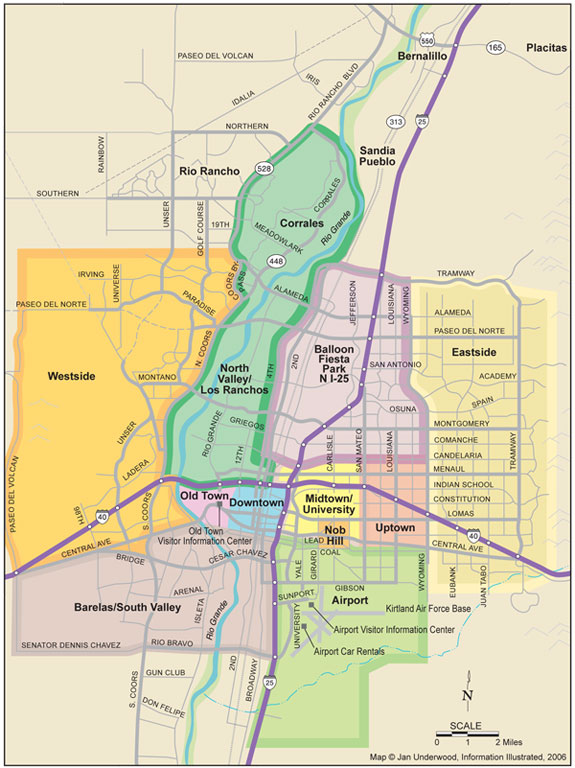 Albuquerque Map - Albuquerque NM Map