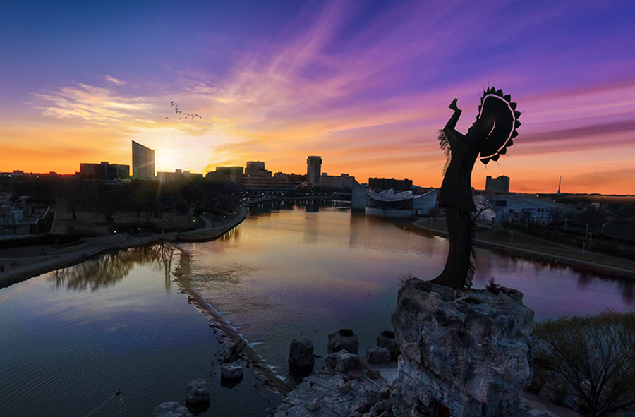 The Keeper over Downtown Wichita