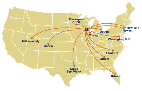 Where We Fly Map
