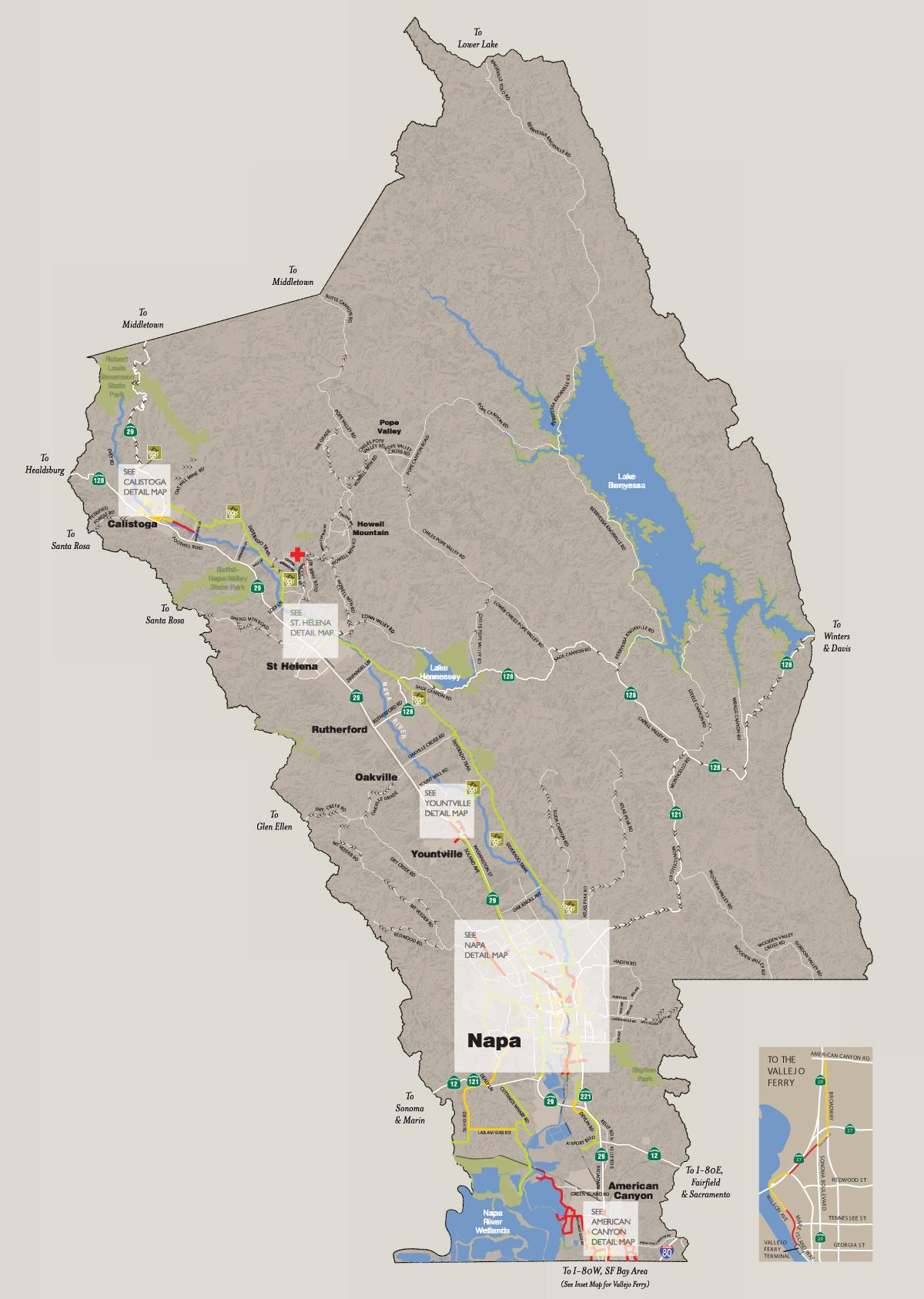 . napa valley bike map  recreation  napa valley vine trail