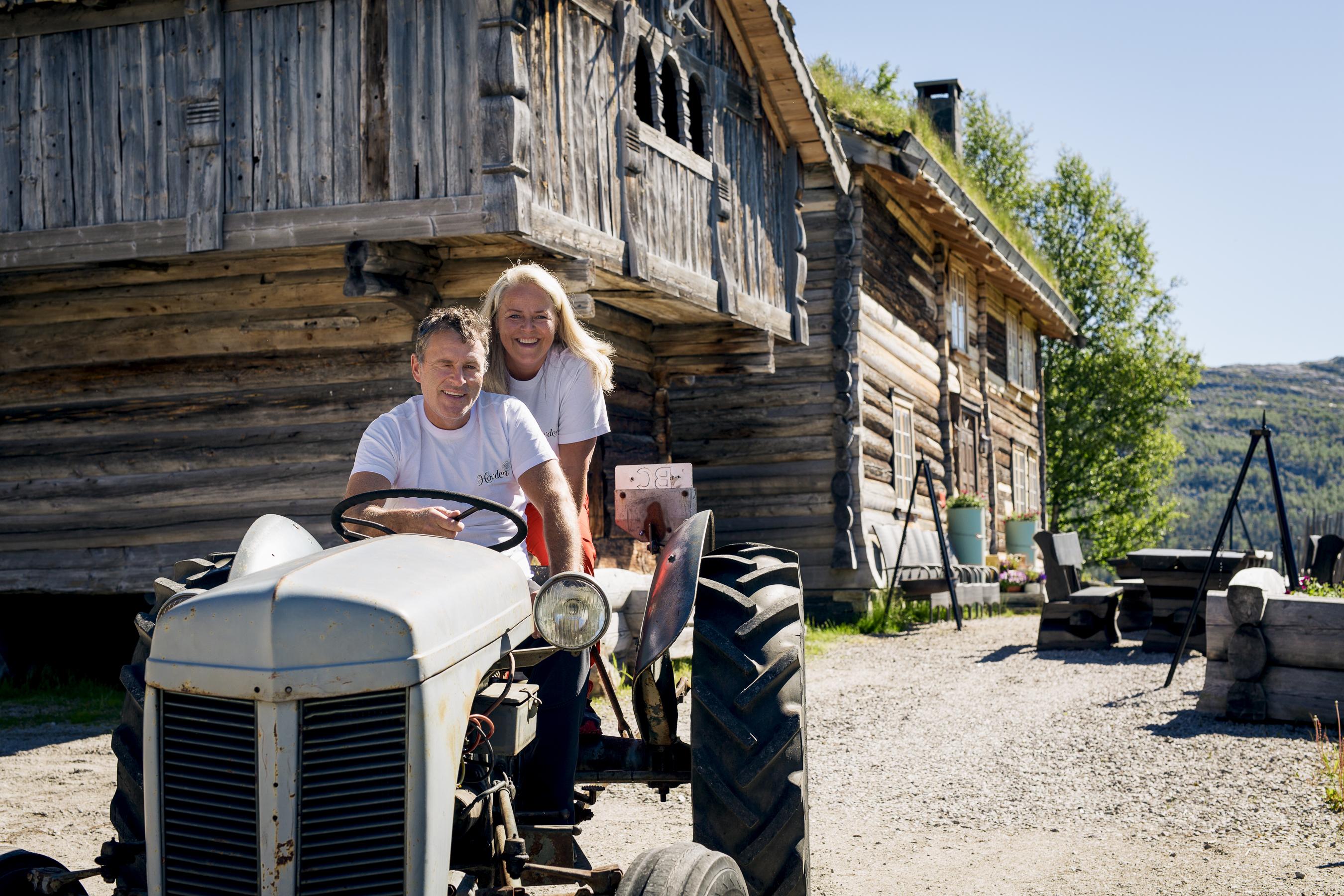 Merete og Rolg Arne på Fjellgarden
