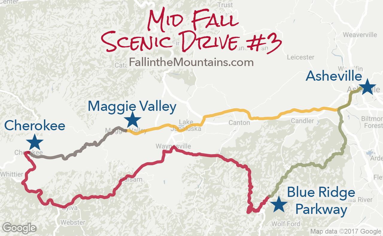 Asheville Mid Fall Scenic Route
