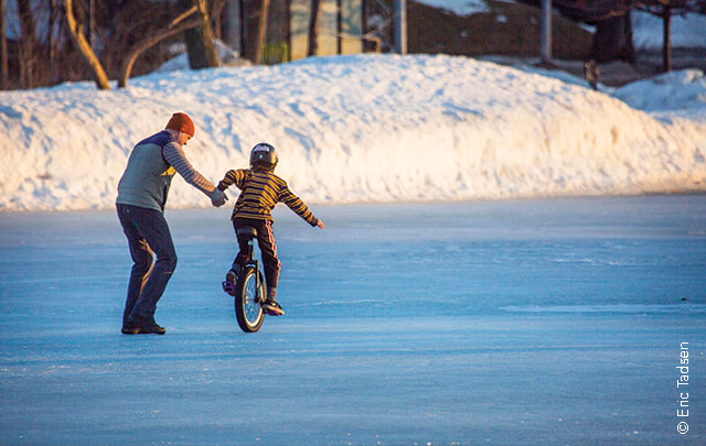Ice Unicycling