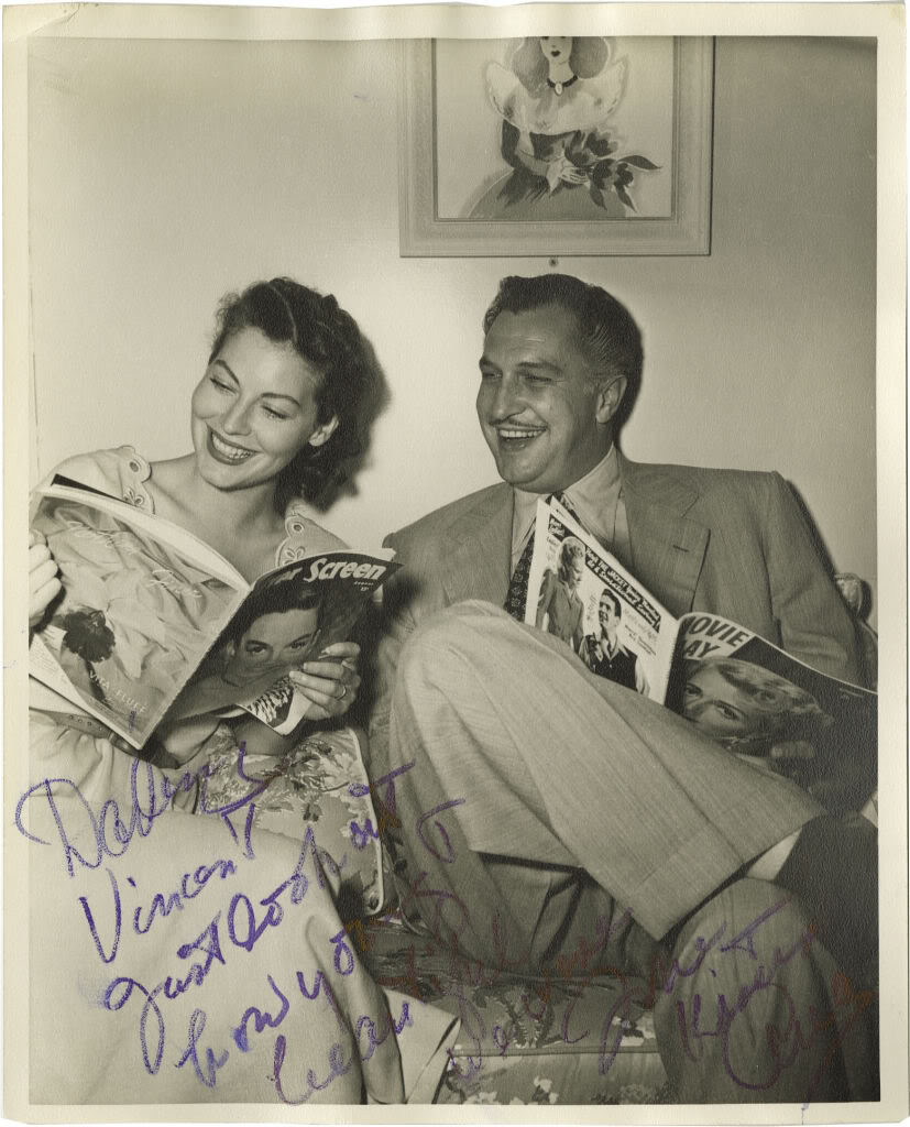 Ava and Vincent Price