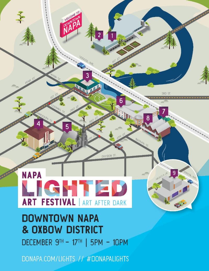 Napa Lighted Arts Festival Map
